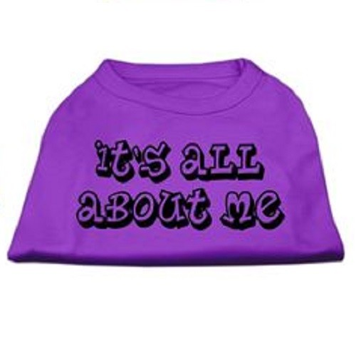 It's All About Me Screen Print Dog Shirt - Purple | The Pet Boutique