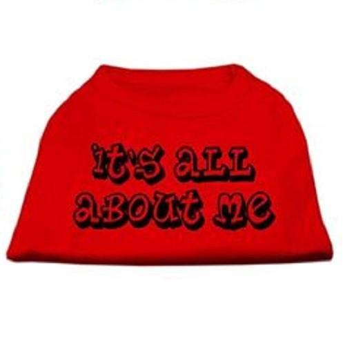 It's All About Me Screen Print Dog Shirt - Red | The Pet Boutique