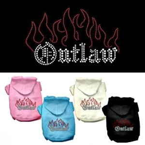 Outlaw Rhinestone Dog Hoodie | The Pet Boutique