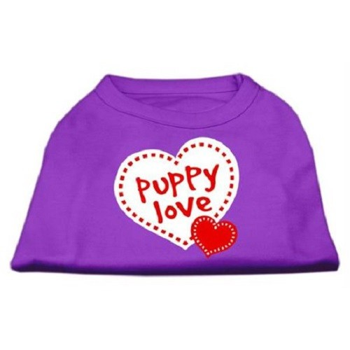 Puppy Love Screen Print Dog Shirt - Purple | The Pet Boutique