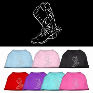 Rhinestone Boot Dog Shirt | The Pet Boutique