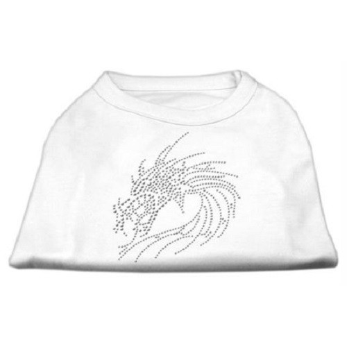 Studded Dragon Dog Shirt - White | The Pet Boutique