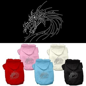 Studded Dragon Rhinestone Dog Hoodie | The Pet Boutique