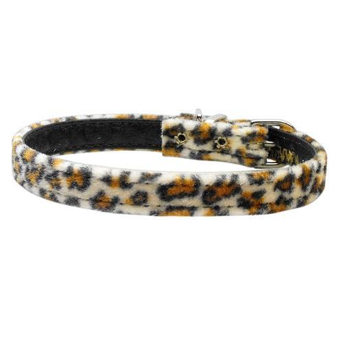 "3/8"" Plain Animal Print Dog Collar - Jaguar   The Pet Boutique"