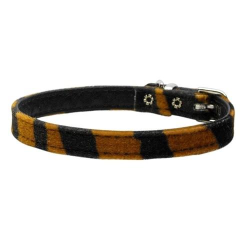 "3/8"" Plain Animal Print Dog Collar - Tiger   The Pet Boutique"