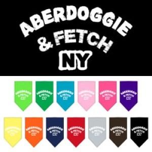 Aberdoggie NY Screen Print Pet Bandana | The Pet Boutique