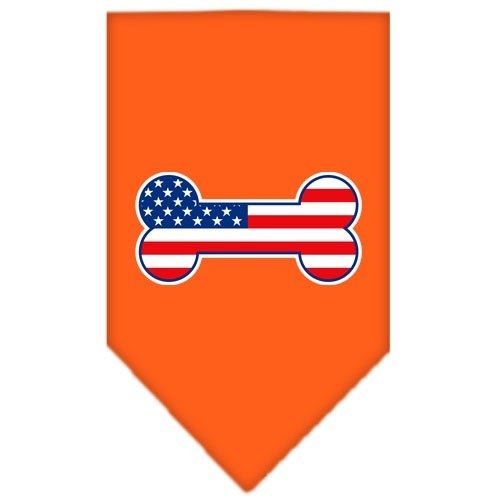 Bone Flag American Screen Print Pet Bandana - Orange | The Pet Boutique