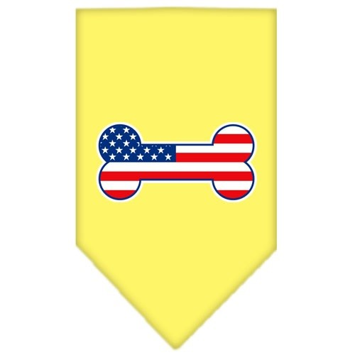 Bone Flag American Screen Print Pet Bandana - Yellow | The Pet Boutique
