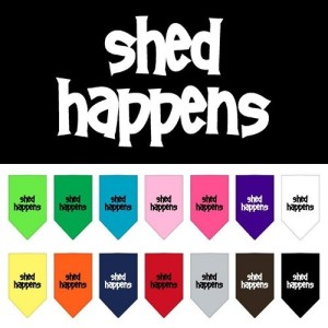 Shed Happens Screen Print Pet Bandana | The Pet Boutique