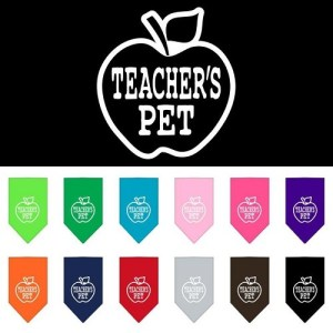 Teachers Pet Screen Print Pet Bandana | The Pet Boutique
