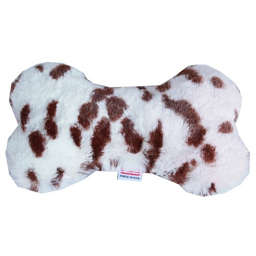 "6"" Plush Bone Dog Toy - Snow Leopard 