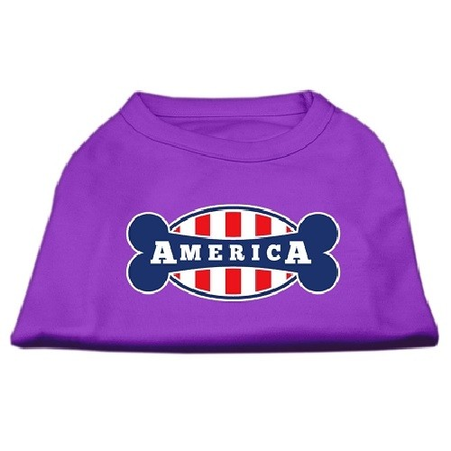 Bonely in America Screen Print Dog Shirt - Purple | The Pet Boutique