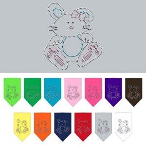 Bunny Rhinestone Pet Bandana | The Pet Boutique