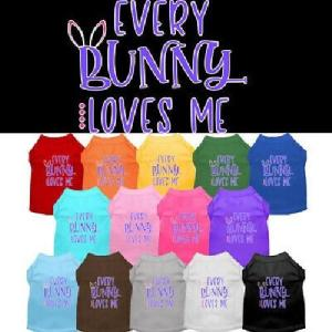 Every Bunny Loves Me Screen Print Dog Shirt   The Pet Boutique