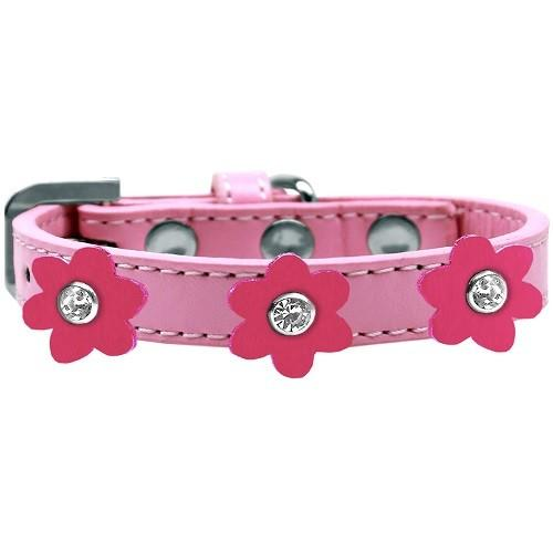 Flower Premium Dog Collar - Light Pink With Pink Flowers   The Pet Boutique