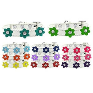 Flower Premium Dog Collar - White | The Pet Boutique