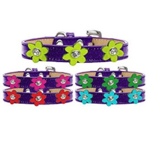 Metallic Flower Ice Cream Dog Collar - Purple | The Pet Boutique