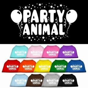 Party Animal Screen Print Dog Shirt   The Pet Boutique
