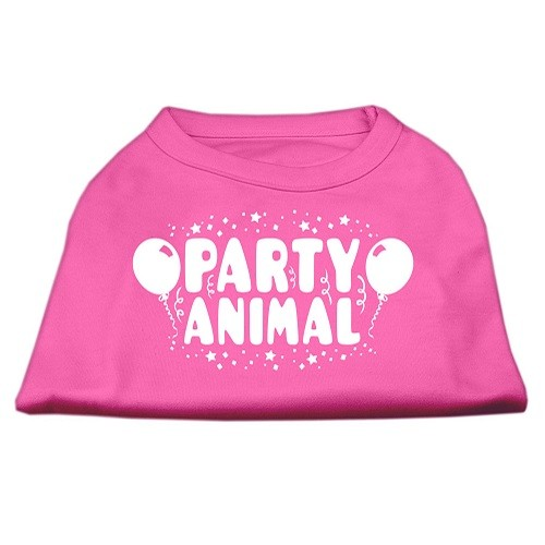 Party Animal Screen Print Dog Shirt - Bright Pink | The Pet Boutique
