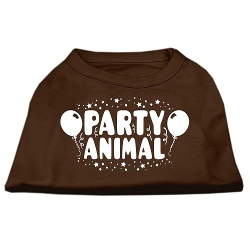 Party Animal Screen Print Dog Shirt - Brown | The Pet Boutique