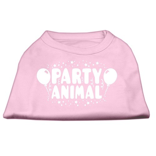 Party Animal Screen Print Dog Shirt - Light Pink | The Pet Boutique