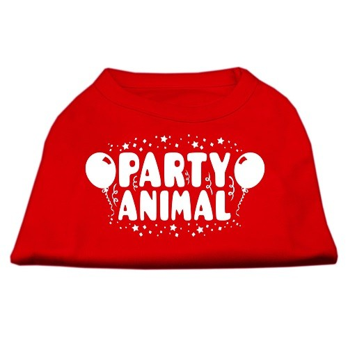 Party Animal Screen Print Dog Shirt - Red | The Pet Boutique