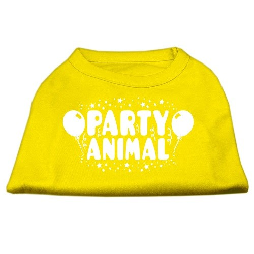 Party Animal Screen Print Dog Shirt - Yellow | The Pet Boutique