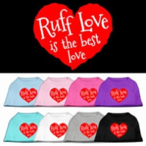 Ruff Love Is the Best Love Screen Print Dog Shirt | The Pet Boutique