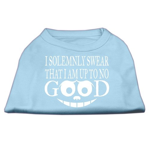 Up to No Good Screen Print Dog Shirt - Baby Blue | The Pet Boutique