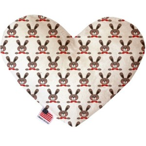 Dapper Rabbits Stuffing Free Heart Dog Toy | The Pet Boutique
