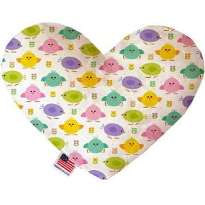 Easter Chickadees Heart Dog Toy   The Pet Boutique