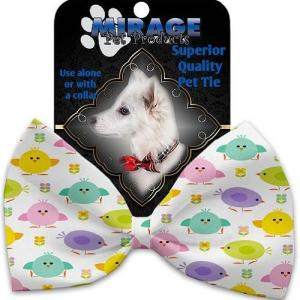 Easter Chickadees Pet Bow Tie   The Pet Boutique
