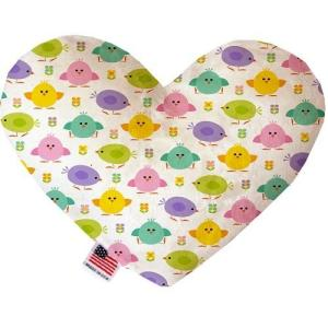 Easter Chickadees Stuffing Free Heart Dog Toy   The Pet Boutique