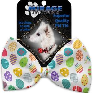 Easter Eggs Pet Bow Tie Collar Accessory with Velcro   The Pet Boutique