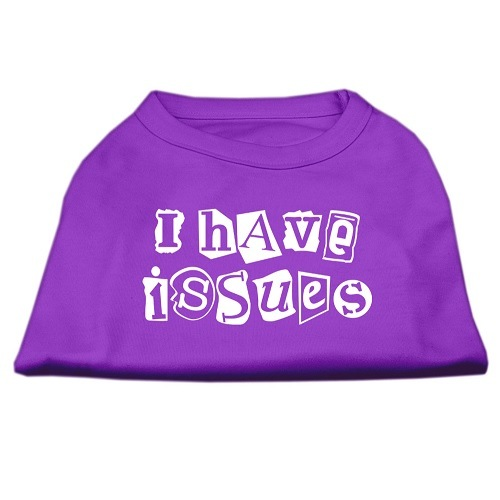 I Have Issues Screen Print Dog Shirt - Purple | The Pet Boutique