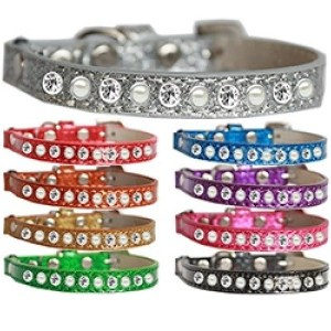 Pearl and Clear Jewel Ice Cream Cat Safety Collar | The Pet Boutique