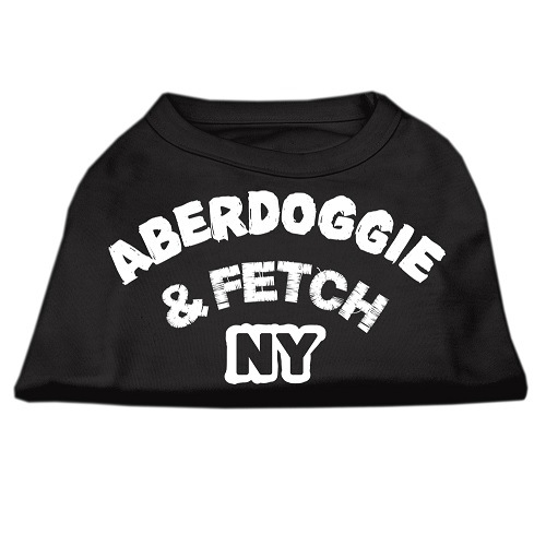 Aberdoggie NY Screen Print Dog Shirt - Black | The Pet Boutique