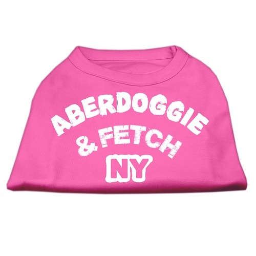 Aberdoggie NY Screen Print Dog Shirt - Bright Pink | The Pet Boutique