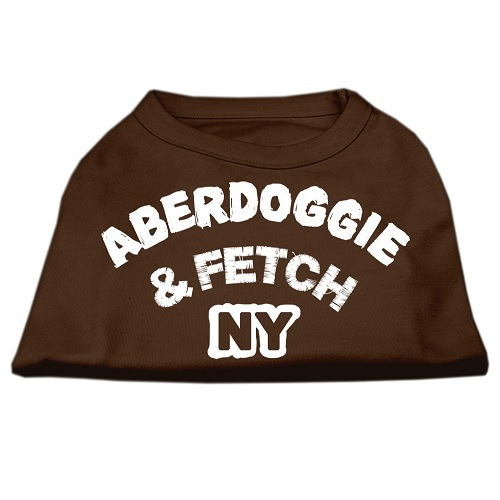 Aberdoggie NY Screen Print Dog Shirt - Brown | The Pet Boutique