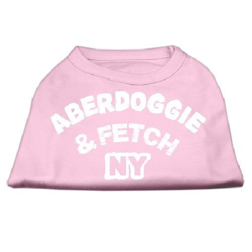 Aberdoggie NY Screen Print Dog Shirt - Light Pink | The Pet Boutique