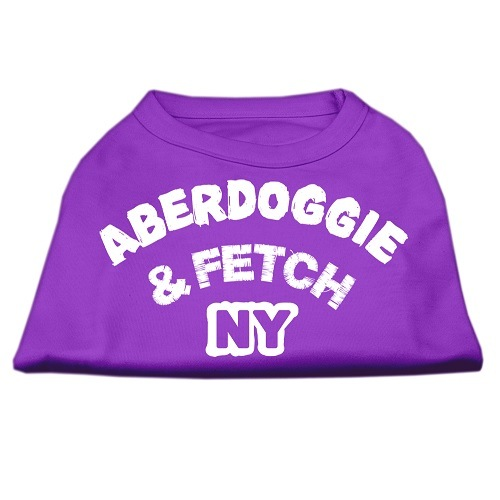 Aberdoggie NY Screen Print Dog Shirt - Purple | The Pet Boutique