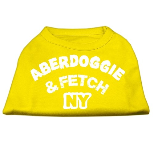 Aberdoggie NY Screen Print Dog Shirt - Yellow | The Pet Boutique