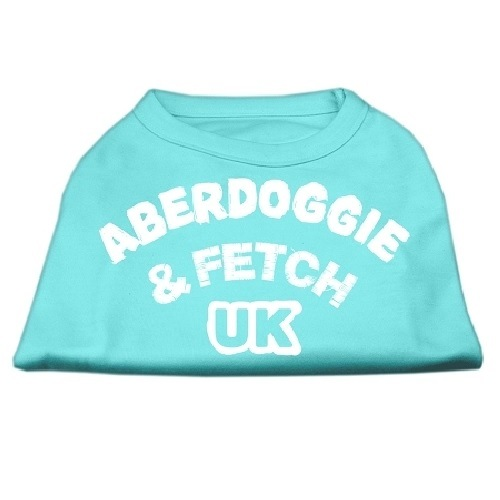 Aberdoggie UK Screen Print Dog Shirt - Aqua | The Pet Boutique