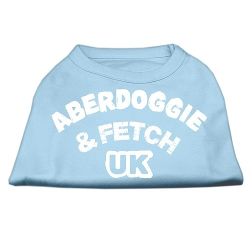 Aberdoggie UK Screen Print Dog Shirt - Baby Blue | The Pet Boutique