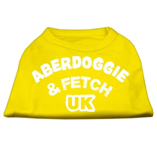 Aberdoggie UK Screen Print Dog Shirt - Yellow | The Pet Boutique