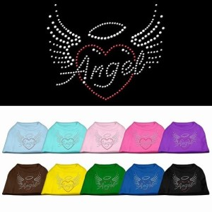 Angel Heart Rhinestone Dog Shirt | The Pet Boutique