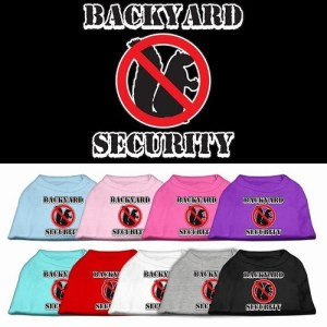Backyard Security Screen Print Dog Shirt | The Pet Boutique