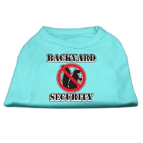 Backyard Security Screen Print Dog Shirt - Aqua | The Pet Boutique