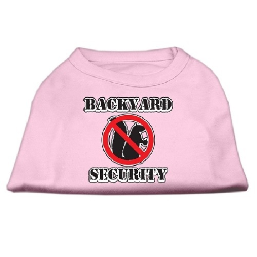 Backyard Security Screen Print Dog Shirt - Light Pink | The Pet Boutique