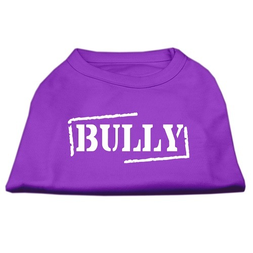 Bully Screen Printed Pet Shirt - Purple | The Pet Boutique